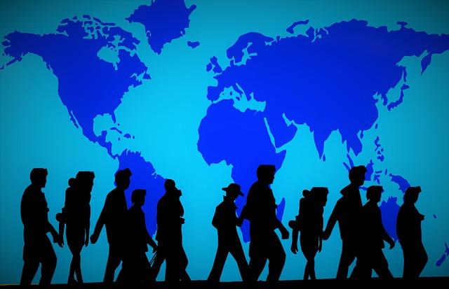 cestování skupiny lidí