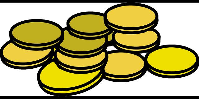 schematický obrázek mincí