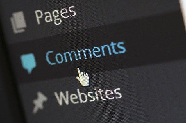 psaní komentáře